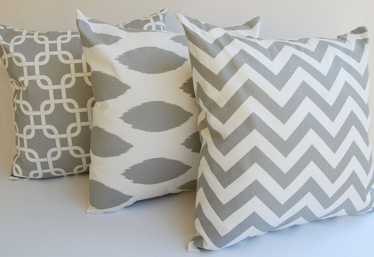 Decorative Pillows Etsy : Gray Pillow Throw Pillows 18 x 18 Inches by ThePillowPeople