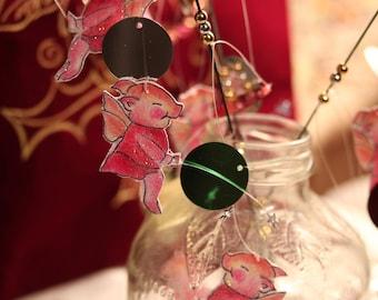Pig fairy Magic wands, princess pig fairy wands, flying pig decorations