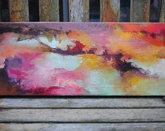 Original Abstract oil painting 20x8