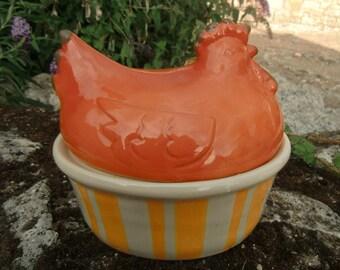 """1960 Vintage French Hen """"egg basket"""""""