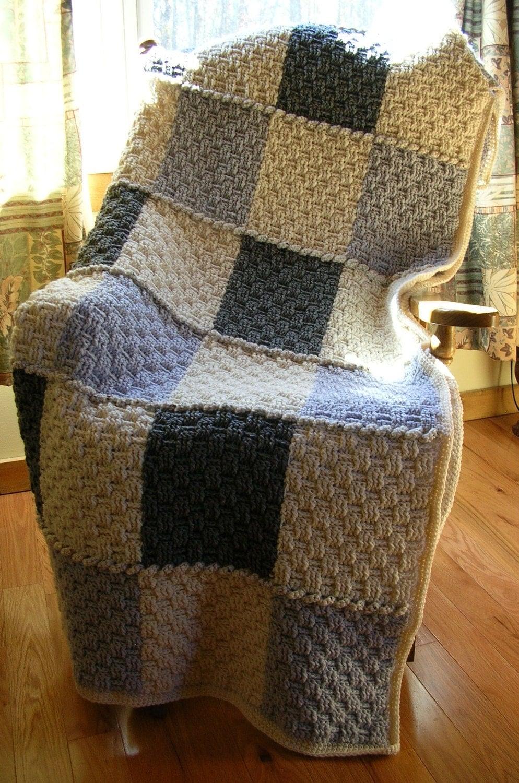 Crochet Afghan Blanket Throw Neutral Colors By Littlestsister