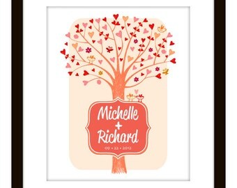 Valentines or Wedding Tree Heart Art Print