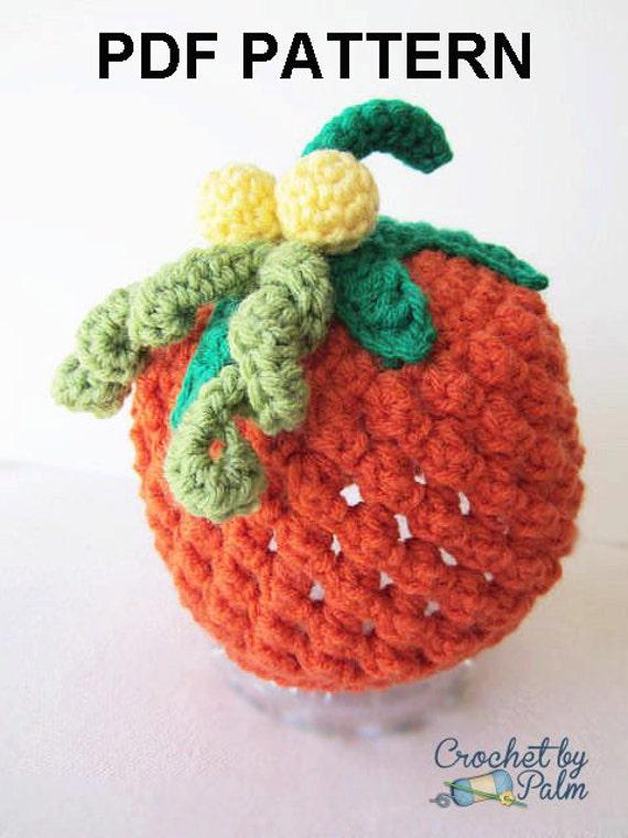 Items similar to Crochet Pumpkin hat Pattern Halloween PDF ...