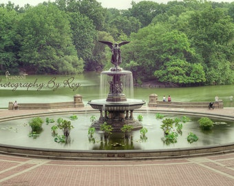 NYC Central Park Bethesda Fountain Photograph, Manhattan New York City Original photograph / print.