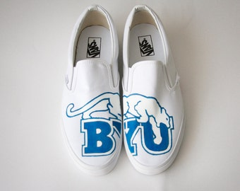 Custom Painted Shoes- BYU Cougars
