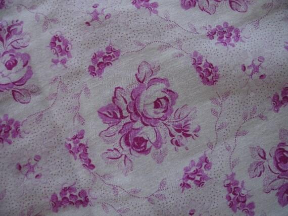 Antique Duvet Cover,Vintage Duvet Cover , Fabric,  Pink  floral Rose  Duvet Cover, Floral duvet cover, Bedding Blanket Coverlet Bedspread
