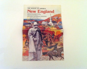 National Geographic - The Making of America: New England - Insert from February, 1987