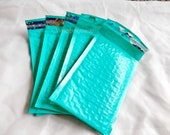 50 Pack Teal 4x8 Bubble Mailers, Padded envelopes,Teal Green Mailing Self Adhesive Shipping Envelopes