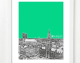 Munich Germany Poster - Munich Germany City Skyline Art Print - Munich Art Print - Munich Skyline