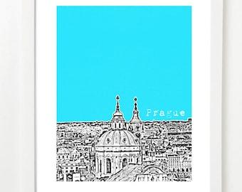 Prague Skyline Poster - Prague, Czech Republic Art Print  - VERSION 1
