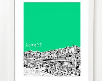 Lowell Massachusetts - City Skyline Series Poster - Lowell Art Print