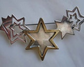 Mexico Sterling brooch Winter Comet Shooting stars gold vermiel