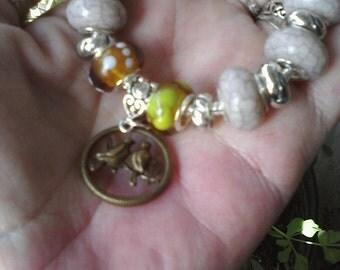 Love Birds, Euro style bracelet