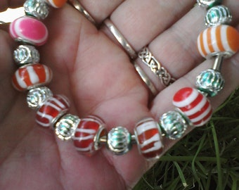 Candy colors, Euro style bracelet