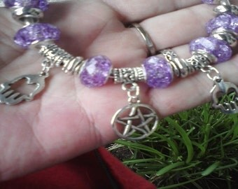 Pagan Wiccan Namaste, Reiki and Healers, Euro style bracelet