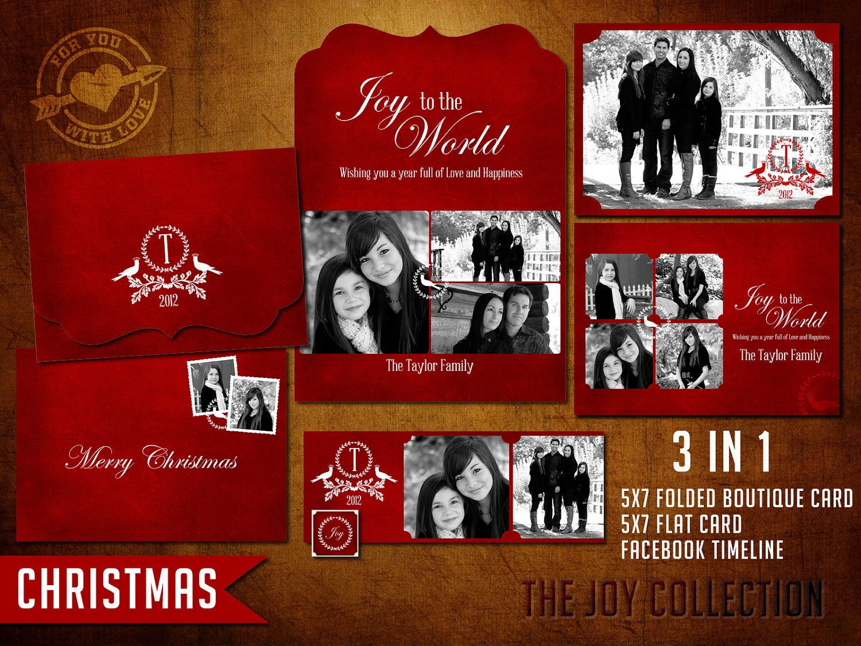 5x7 vintage psd christmas card template for by 4uwlove on etsy for Christmas card psd