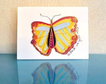 Pastel Buterfly Cards Set of 4