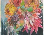 """flowers for lady print 11""""x14"""""""