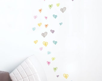 Light Hearts - kid wall decal