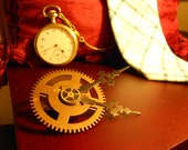 Hands of Time Steampunk Tie Clip