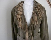 Wilson's  Leather  Coat,  Fringed Jacket,  Size Small,  All Leather, 1990s