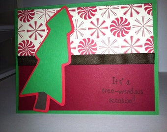 Christmas Tree Card It's tree-mendous occasion