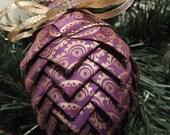Purple with a Unique Gold Design Ornament