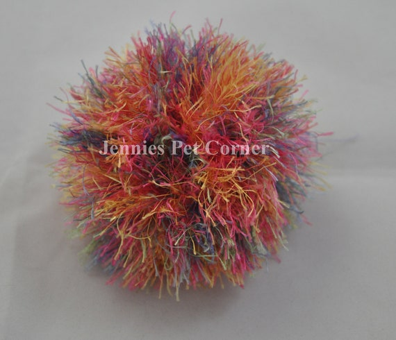 Confetti Hand Crocheted Kitty Poof Cat Ball Toy