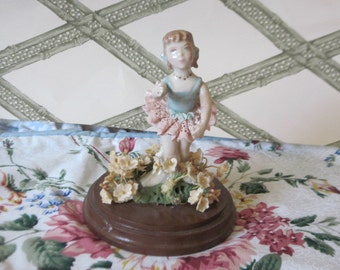 Beautiful Dainty Ballerina Figurine with lacy  tutu /  SALE CLEARINGOUT25 must use at check out