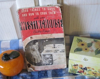 Westing House Electric Range Book and Cook Book Very Well Loved 1940  :)
