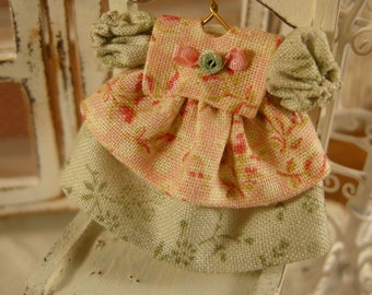 Miniature dollhouse baby dress