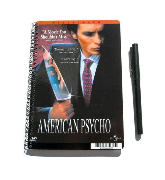 American Psycho Notebook / Journal / Diary UpCycled Spiral Bound Patrick Bateman Horror Movie