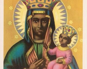 Erzulie Dantor Prayer Card  Black Madonna SHIPPING INCLUDED