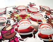 Christmas, Santa Claus stickers