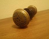 Vintage Ornate Brass Door Knob - Ornate Design