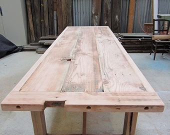 Vintage Industrial Workbench Dining / Table -Handmade to Order-