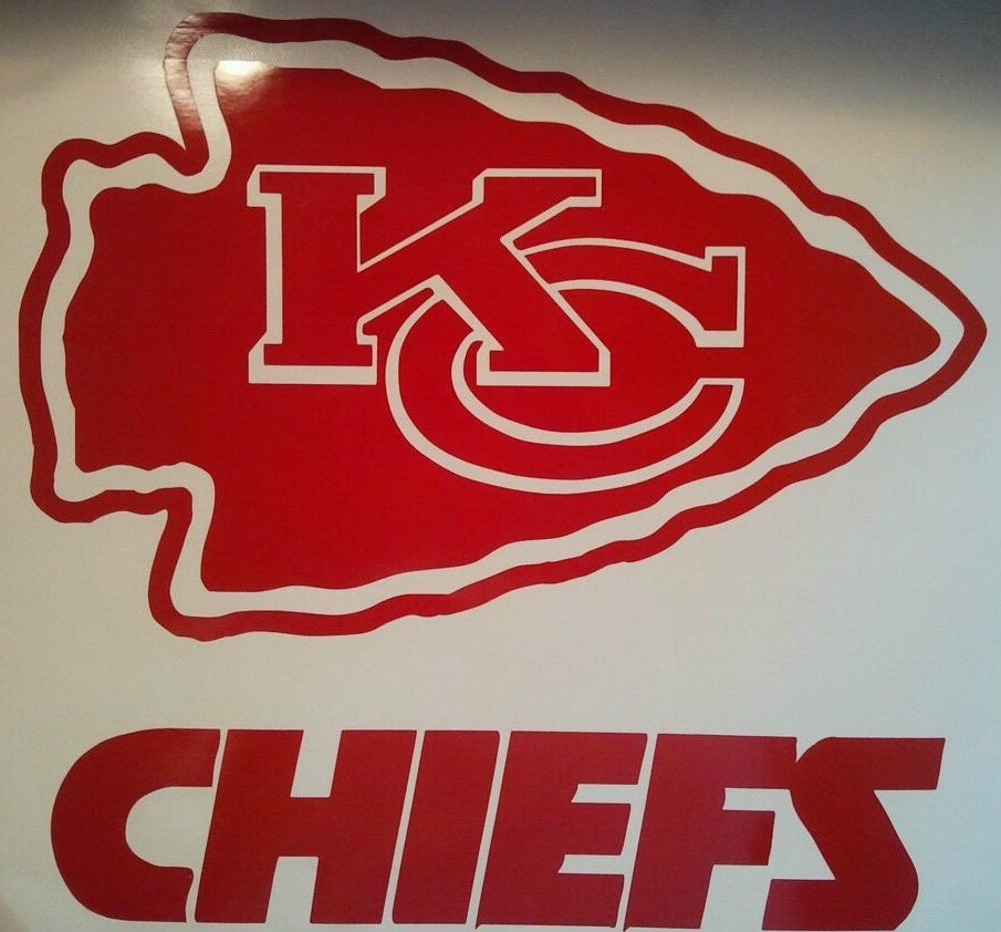 New Kansas City Chiefs W Letters Vinyl Decal Set Of By