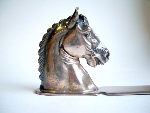 Vintage Letter Opener Reed and Barton Silver plated Horse Paper weight