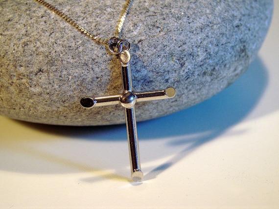 Vintage Bond Boyd Sterling Silver Cross Pendent Silver Cross Christianity Gift Baptism