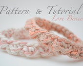 SALE -Crochet Love Bracelet Pattern & Tutorial