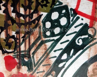 """Archival Print of Original Mixed Media """"Patterns of India"""""""