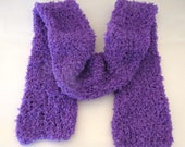 Soft and Fuzzy Polyester Scarf in Polar Purple