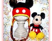 Original Mickey Mouse Earflap Hat - Crochet Pattern