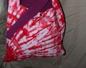 Tie dyed red hobo handbag