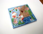Painted Birds Tile
