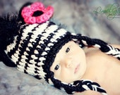 Zany Zebra Crochet Hat for Girls