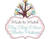 ON SALE! Etsy Shop Deluxe Branding Package Set - Etsy Branding - Business Branding