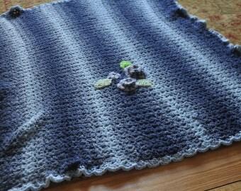 Vintage Handmade Crocheted Blanket Afghan Baby Crib