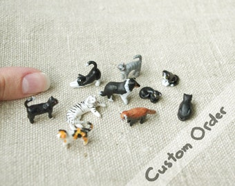 Custom Miniature pet or animal, polymer clay