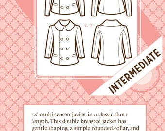 SALE -- Anise jacket pattern by Colette Patterns sizes 0-18 (all included)